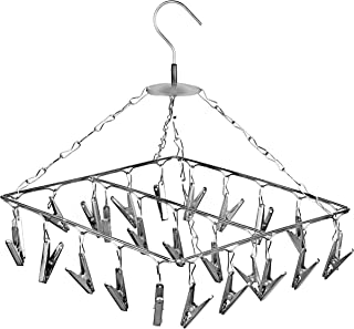 Angel Bear 25 Clips Stainless Steel Square Cloth Dryer/Clothes Drying Stand/Hanger with Clips (Made in India) - 1 Year Rus...
