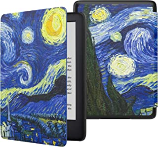 MoKo Case Fits All-New Kindle (10th Generation - 2019 Release Only), Thinnest Protective Shell Cover with Auto Wake/Sleep, Will Not Fit Kindle Paperwhite 10th Generation 2018 - Starry Night