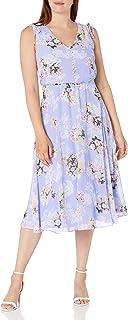 Jessica Howard womens Sleeveless V-Neck Blouson Dress Casual Dress