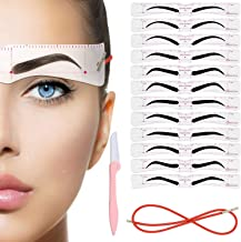 Eyebrow Stencil, 12PCS Eyebrow Shaper Kit, Reusable Eyebrow Template With Strap, Eyebrow Trimmers for Women Girls,3 Minutes Makeup Tools For Eyebrows