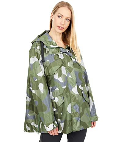 Save the Duck Geneva TERA Printed Water Repellant Hooded Utility Jacket (Macro Camo Green) Women