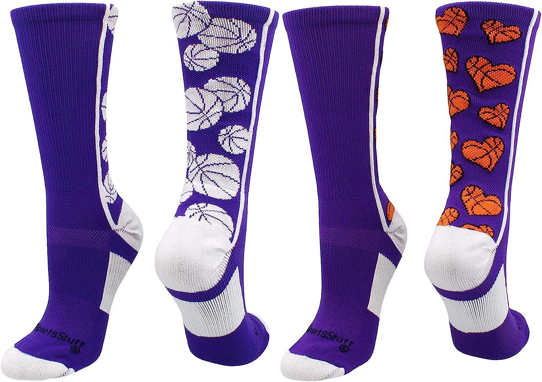 multiple colors Crazy Basketball Logo Crew Socks