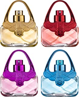 Girls Perfume Body Mist Fragrance Gift Set - 4 Piece Holiday Gift Set for Little Girls, Young Girls, Tweens and Preteens – 4 Hand Bag Purse Shaped Bottles - SHOPAHOLIC Fashion Collection