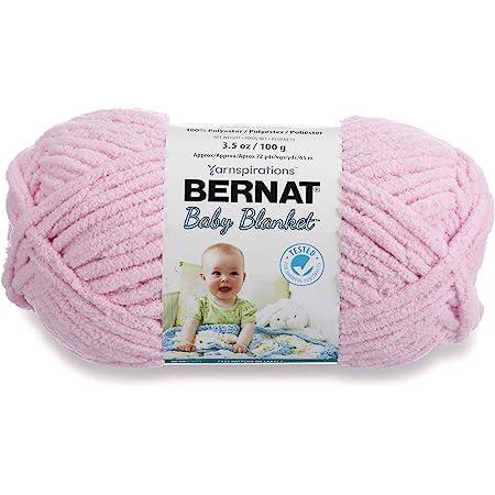 Bernat Baby Blanket Yarn, 3.5oz, Super Bulky 6 Gauge - Pink - Single Ball Machine Wash & Dry (454533)