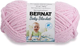 Bernat Baby Blanket Yarn - (6) Super Bulky Gauge - 3.5oz - Pink - Single Ball Machine Wash & Dry (454533)