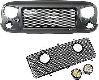 Rugged Ridge 12034.35 Spartan Grille Round LED Insert Kit Jeep Wrangler JK