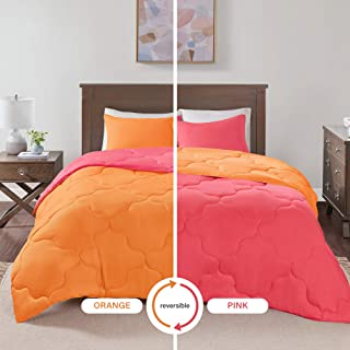 hot pink orange bedding