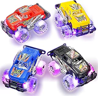 Light Up Monster Truck Set for Boys and Girls by ArtCreativity - Set Includes 2, 6 Inch Monster Trucks with Beautiful Flas...