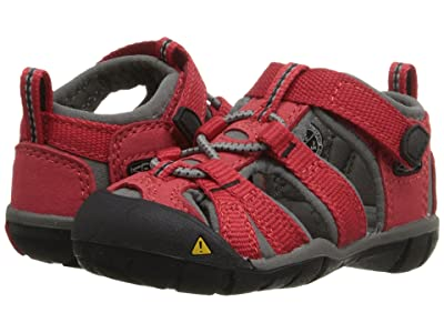 Keen Kids Seacamp II CNX (Toddler) (Racing Red/Gargoyle) Kids Shoes