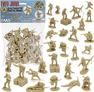 BMC WW2 Iwo Jima US Marines Plastic Army Men - Tan 36pc American Soldier Figures