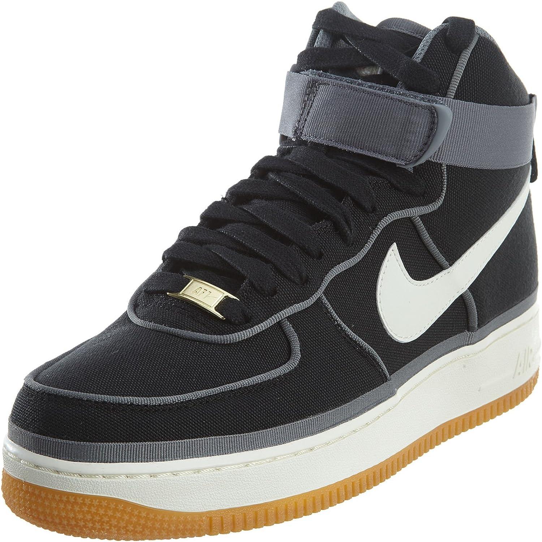 Nike Uomo, Air Force 1 High 07 LV8, Tessuto, Sneakers Alte, Nero ...