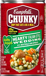 Campbell's Chunky Healthy RequestHearty Italian-Style Wedding with Meatballs and Spinach Soup, 18.6 oz. Can (Pack of 12)