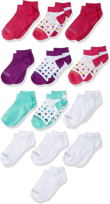 Fruit of the Loom girls Everyday Soft Lightweight Low Cut Socks 13 Pair