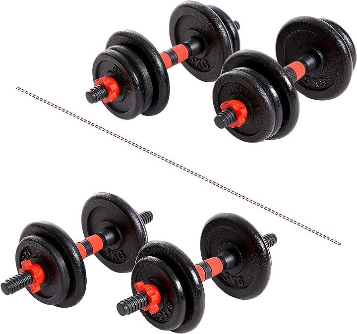 Manubri in ghisa  set - 15kg-20 mano sets di pesi per palestra casa homegym fitness xn8 B08FBF4764