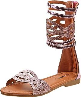 326e0307edad Kensie Girl Fashion Gladiator Sandals with Shiny Glitter Straps (Little  Kid Big Kid)