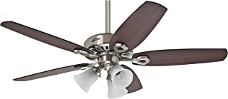 Hunter Fan Builder Plus Ventilador de techo con luz níquel pulido E27, 14 W, 132 cm