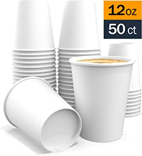 All Purpose White Paper Cups hot Beverage Cup for Coffee Tea Water and cold Drinks good Bath Cup 12 oz