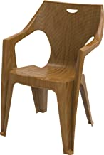 Cosmoplast 6291048145035 Plastic 2.4 Kg Duke Armchair for Indoors and Outdoors, Sandalwood, 81 x 57 x 55 cm