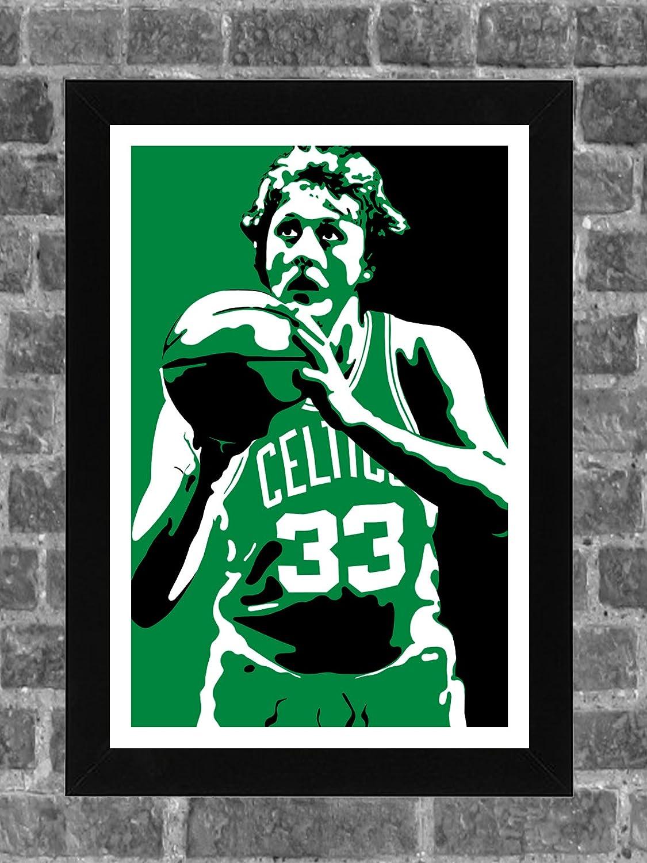 2 x 3 FEET Basketball LARRY BIRD BOSTON CELTICS Poster Photo Sports Print 2