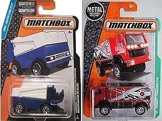 Zamboni Matchbox Ice Set MBX Explorers Matchbox Desert Thunder Alien Study Lab Truck #90 & Zamboni Ice Resurfacing Machine #7 pack in PROTECTIVE CASES