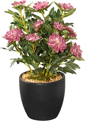 "CC Christmas Decor 11"" Potted Zinnia Artificial Flowers"