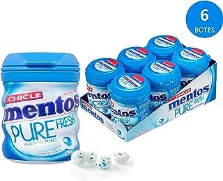 Mentos Chicle Sin Azúcar Pure Fresh Bote con Sabor a Menta - 6*60 grams
