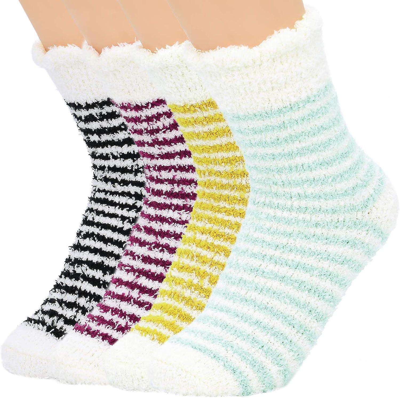Womens Christmas Fluffy Socks Fleece Socks Warm Soft Fuzzy Socks Winter Athletic Socks Outdoor Sports Socks for Girls