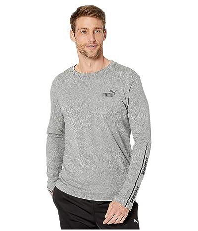 PUMA Amplified Long Sleeve Tee (Medium Grey Heather) Men