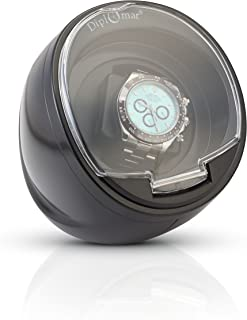 Single Black Watch Winder with Built In IC Timer