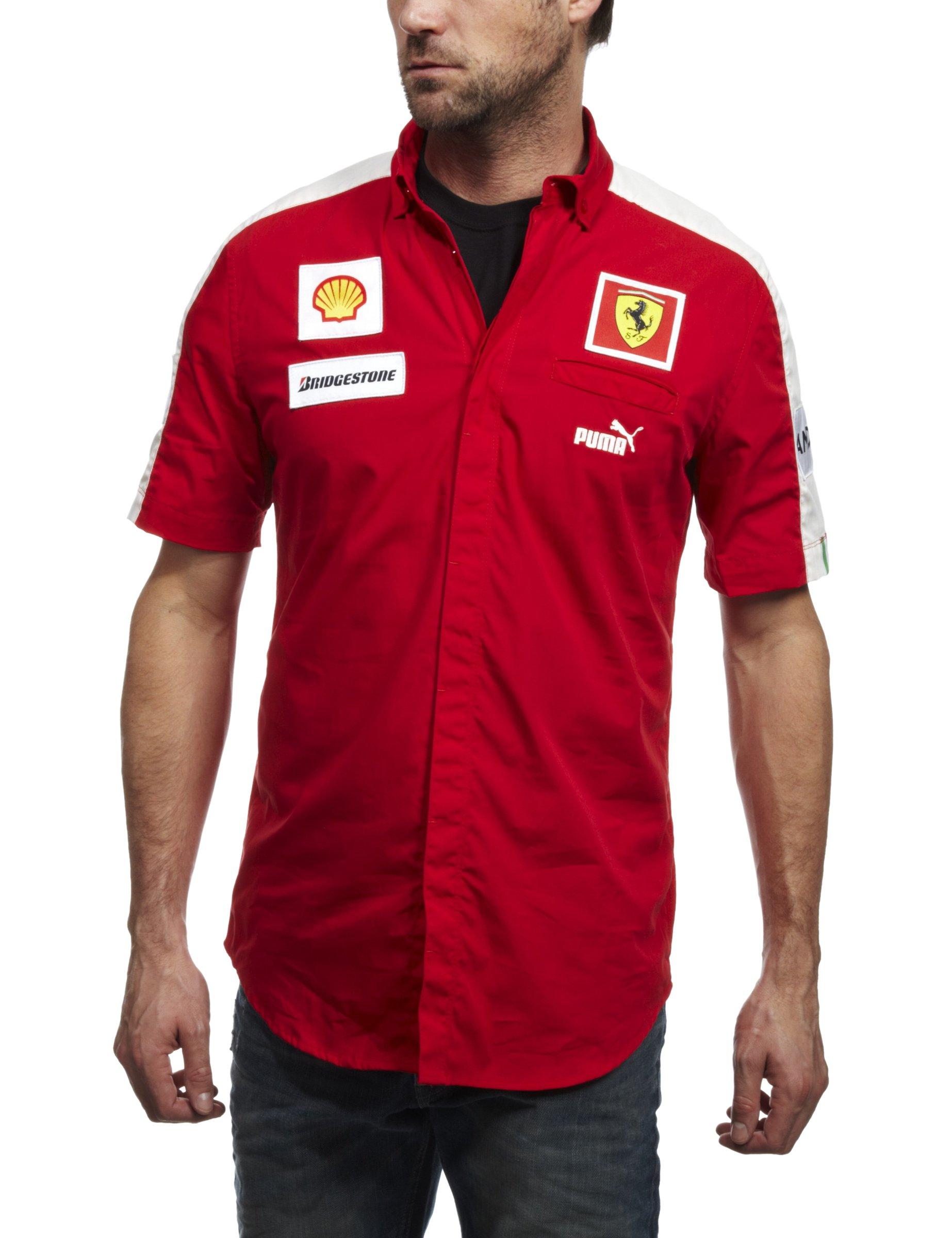 PUMA SF Team Shirt Rojo Hombre Camisa Ferrari: Amazon.es: Deportes y aire libre