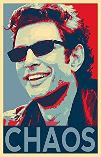 NLopezArt Chaos Jurassic Park Jeff Goldblum Ian Malcolm Political Pop Art Poster Print (11x17 inches)