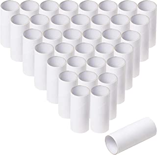 Cardboard Tubes - 48-Pack Craft Rolls, Paper Tubes, Empty Toilet Paper Rolls, Cardboard Rolls, Craft Supplies for Classroom Projects, Kids Art and Craft, White, 1.6 x 1.6 x 3.9 Inches