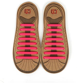 No Tie Shoelaces for Kids and Adults, Elastic Shoe Laces for Sneakers, Silicone Tieless Laces