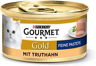 Purina GOURMET Gold Fine Pastete, hoogwaardig kattenvoer, diervoeding, zacht genot, voor veeleisende katten, 12 stuks (12 ...