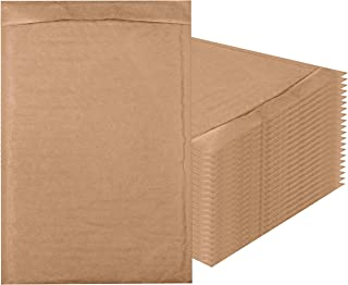 Amiff Natural Kraft Bubble mailers 8.5 x 13 Brown Padded envelopes 8 1/2 x 13. Pack of 20 Kraft Paper Cushion envelopes. Exterior Size 9x14 (9 x 14). Peel and Seal. Mailing, Shipping.