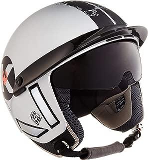 Steelbird Kukka K-1 Half Helmet with Smoke Visor (Matte Silver and Black, 580 mm)