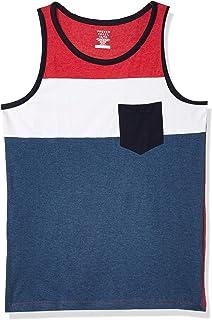 8 Blue Palm Trees Stars Patriotic Boys Tank Top Muscle Shirt Medium