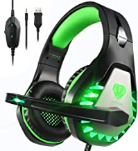 Best Pacrate PC Gaming Headset with Microphone for PS4 Xbox One PC Mac Laptop Nintendo, Deep Bass Surround Gaming Headphones with Noise Cancelling Microphone LED Light for Men Women Kids Reviews