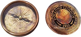 NAUTICAL SOLID BRASS WORKING POCKET COMPASS DOLLOND LONDON 1920 MARINE DECOR GIFT