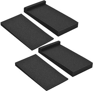 Adaskala 2 Packs High Density Acoustic Isolation Foam Isolation Pads 27 * 14cm Usable Area for Studio Monitor Speaker