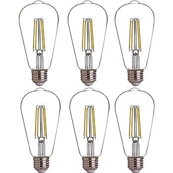 Ascher Vintage G25 LED Globe Light Bulbs Pack of 4 Medium E26 Base 60 Watt Equivalent G25 Glass Edison Style for Bathroom Makeup Mirror Non-Dimmable Daylight White 4000K