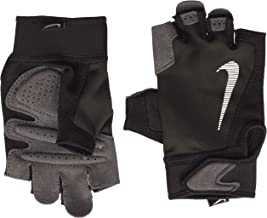 Nike Men's Ultimate Fitness Gloves, Misc Performance Gloves - Black/Volt/White, Size: Medium
