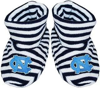 University of North Carolina Tar Heels Newborn Baby Striped Bootie Sock