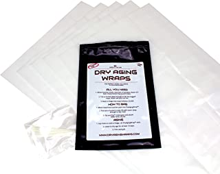 DryAgingWraps - Dry Aged Steak Bags to Age Meat at Home for Ribeye and Short Loin, Zip Ties Included (Standard)