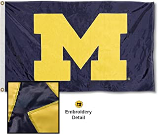 Michigan Wolverines Embroidered and Stitched Nylon Flag