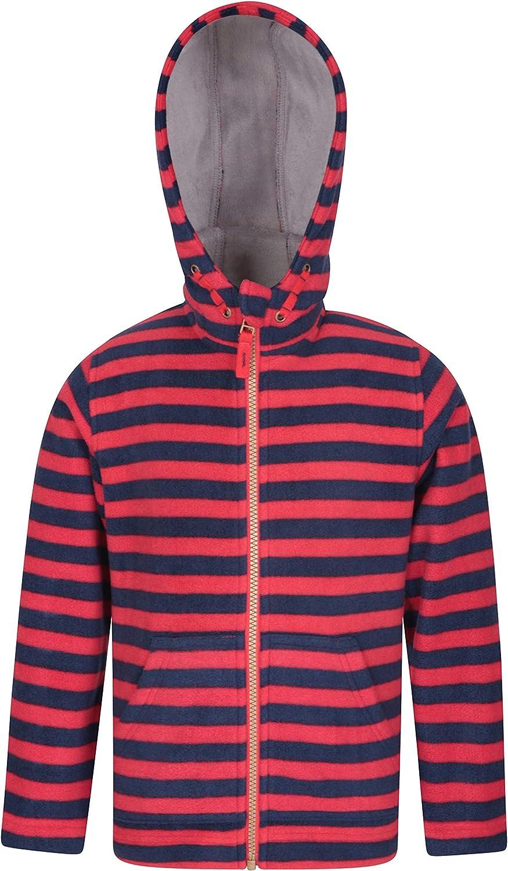 Mountain Warehouse Aviemore Kids Striped Fur Lined Fleece Hoodie