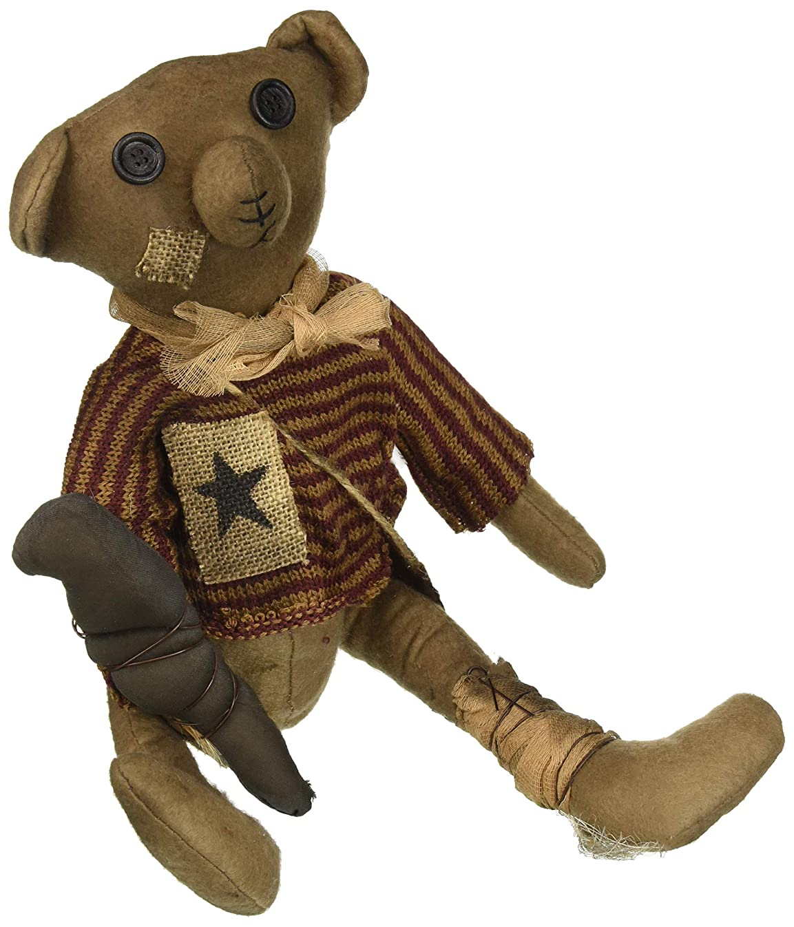 CWI Gifts Robert E Bear Doll, Multicolored