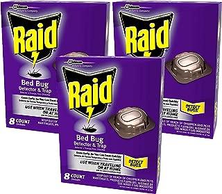 Raid Bed Bug Detector & Trap, 8 CT (Pack - 3)