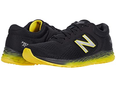 New Balance Kids Fresh Foam Arishi v2 (Little Kid/Big Kid) (Black/Atomic Yellow) Boy