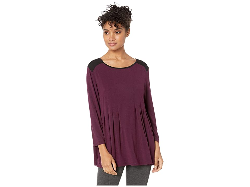 Donna Karan Classic Sleep Top (Burgundy Heather) Women